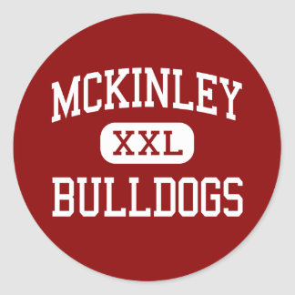 McKinley - Bulldogs - High School - Canton Ohio Classic Round Sticker