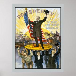 McKinley Republican Campaign Vintage Historical Poster