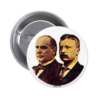 McKinley-Roosevelt - botón Pin Redondo De 2 Pulgadas