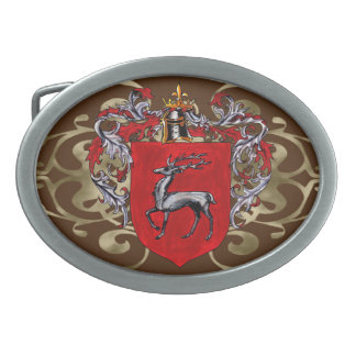 McKinley Shield of Arms Oval Oval Belt Buckle
