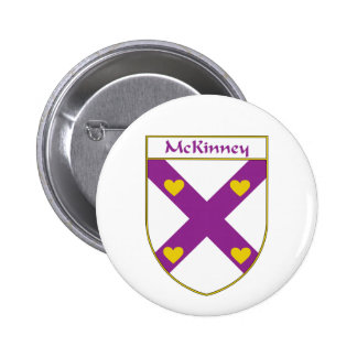 McKinney Coat of Arms/Family Crest Pinback Button