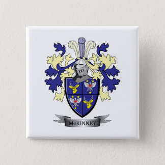 McKinney Family Crest Coat of Arms Button