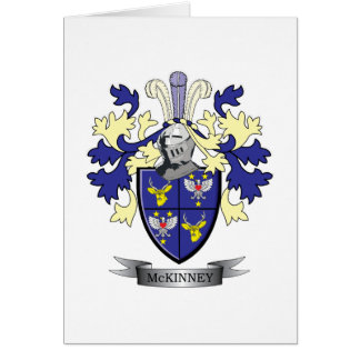McKinney Family Crest Coat of Arms Card