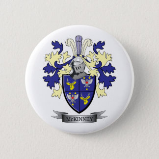 McKinney Family Crest Coat of Arms Pinback Button