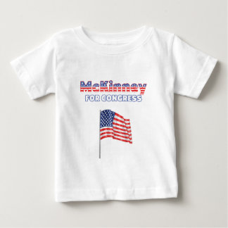 McKinney for Congress Patriotic American Flag Baby T-Shirt