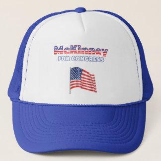 McKinney for Congress Patriotic American Flag Trucker Hat