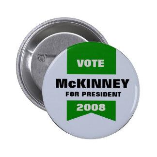 McKINNEY FOR PRESIDENT BUTTON