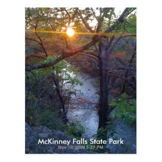 McKinney se cae parque de estado Tarjetas Postales