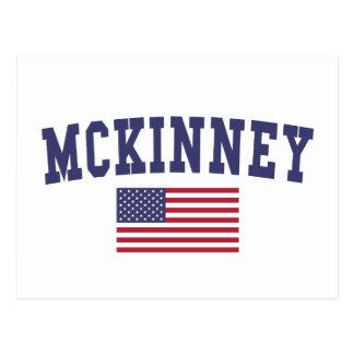 McKinney US Flag Postcard