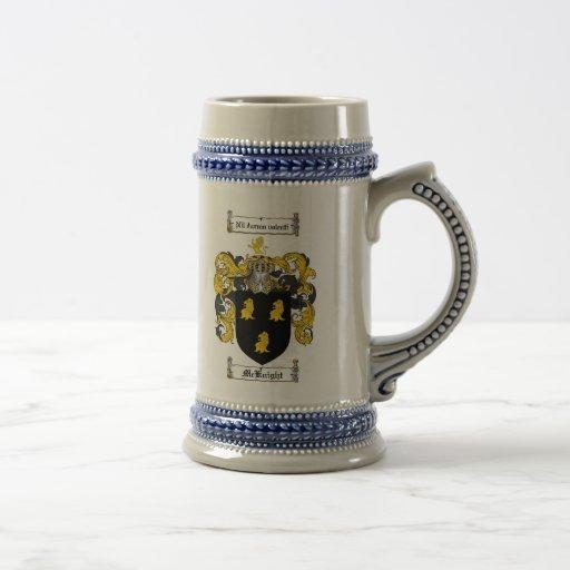 McKnight Coat of Arms Stein 18 Oz Beer Stein