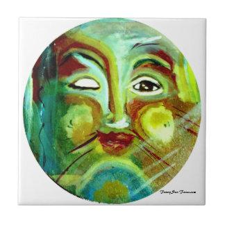 MClairArt's Funny Sun Faces Ceramic Cat Tile