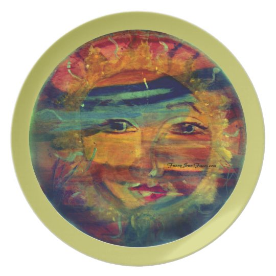 MClairArt's Funny Sun Faces Dinner Plates