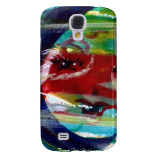 MClairArt's Funny Sun Faces Electronic Gifts Samsung Galaxy S4 Case
