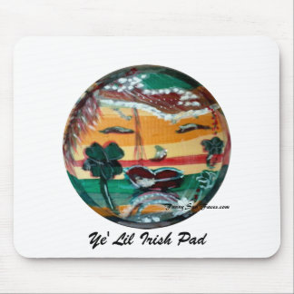 MClairArt's Funny Sun Faces St. Patrick's Day Gift Mouse Pad