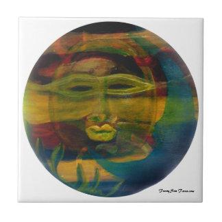 MClairArt's Funny Sun Faces Sun & Moon Tiles