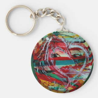 MClairArt's Funny Sun Faces Valentine Gifts Key Chain