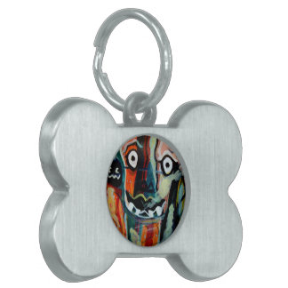MClairArt's FunnySunFaces Halloween Gifts Pet Tag