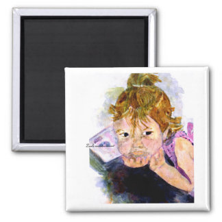 MClairArt's Moments N Art Gift Products 2 Inch Square Magnet