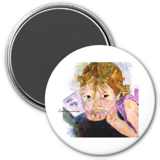 MClairArt's Moments N Art Gift Products 3 Inch Round Magnet