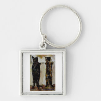 MClairArt's Paw Lovers Art Gifts Keychain