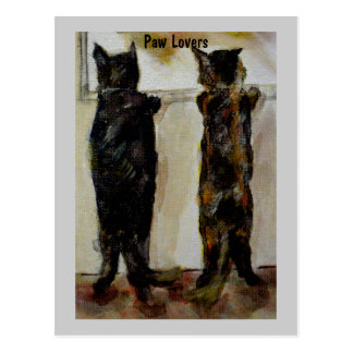 MClairArt's Paw Lovers Art Gifts Postcard