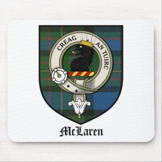 McLaren Clan Crest Badge Tartan Mouse Mat