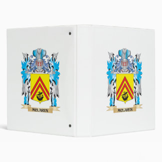 Mclaren Coat of Arms - Family Crest 3 Ring Binder