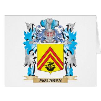 Mclaren Coat of Arms - Family Crest Card