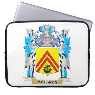 Mclaren Coat of Arms - Family Crest Laptop Sleeve