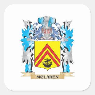 Mclaren Coat of Arms - Family Crest Square Sticker