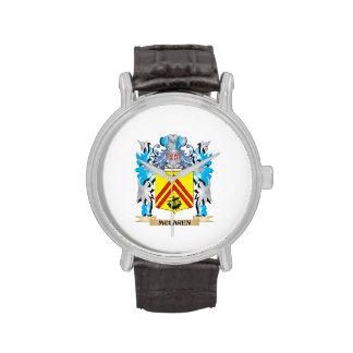 Mclaren Coat of Arms - Family Crest Wristwatches