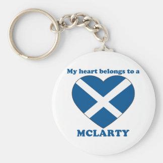 Mclarty Basic Round Button Keychain