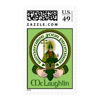 McLaughlin Clan Motto Postage Stamps