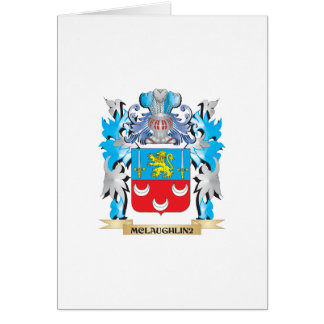 Mclaughlin Coat of Arms - Family Crest Greeting Card