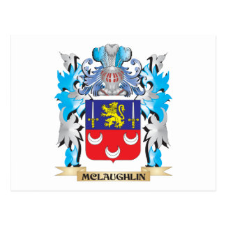 Mclaughlin Coat of Arms - Family Crest Post Card
