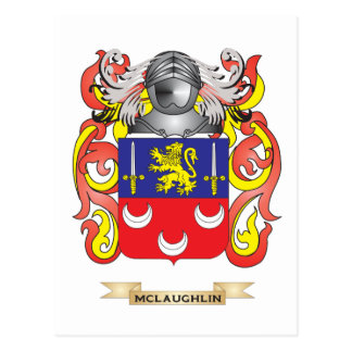 McLaughlin Coat of Arms (Family Crest) Postcard