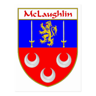McLaughlin Coat of Arms/Family Crest Postcards