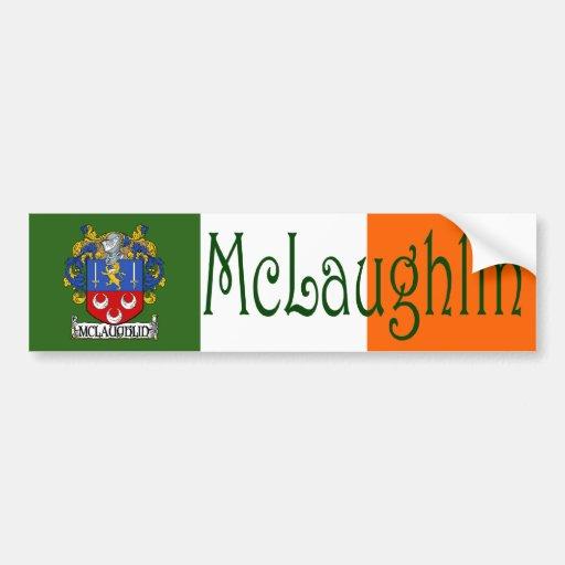 McLaughlin Coat of Arms Flag Bumper Sticker