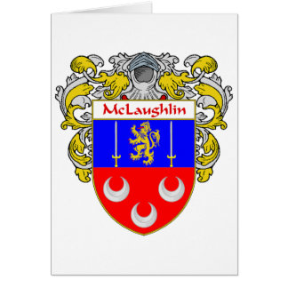 McLaughlin Coat of Arms (Mantled) Cards