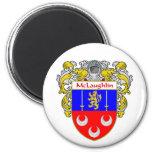 McLaughlin Coat of Arms (Mantled) Fridge Magnets