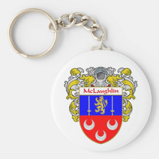 McLaughlin Coat of Arms Mantled Key Chain