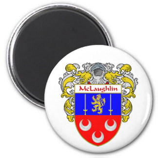 McLaughlin Coat of Arms (Mantled) Magnet