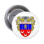 McLaughlin Coat of Arms (Mantled) Pinback Button
