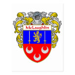 McLaughlin Coat of Arms (Mantled) Postcard