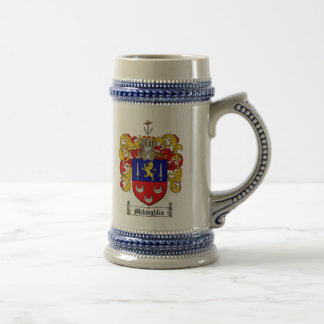 McLaughlin Coat of Arms Stein 18 Oz Beer Stein