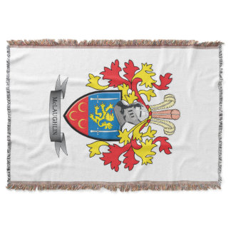 McLaughlin Coat of Arms Throw Blanket