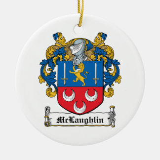 McLaughlin Family Crest Ceramic Ornament