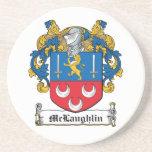 McLaughlin Family Crest Drink Coaster