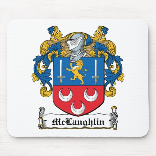 McLaughlin Family Crest Mouse Pad
