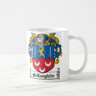 McLaughlin Family Crest Classic White Coffee Mug